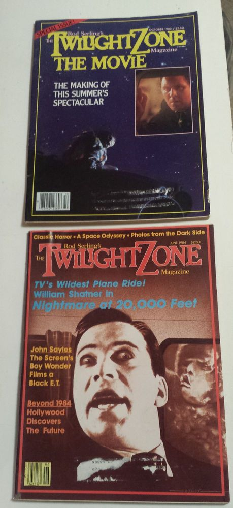 TWILIGHT ZONE MAGAZINES 1983-84 ~ Nightmare @ 20000 Feet - W Shatner J Lithgow