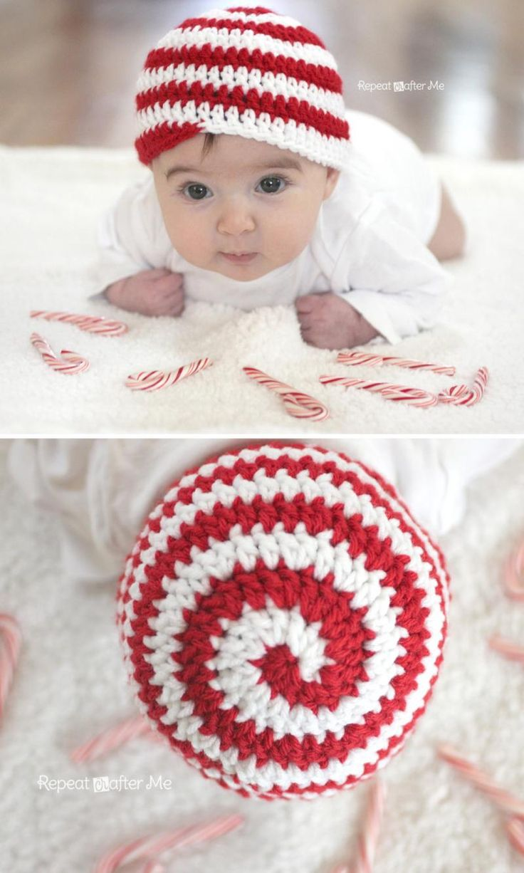 Candy Cane Hat Since it looks almost just like Bijoux, I must make this for her :)