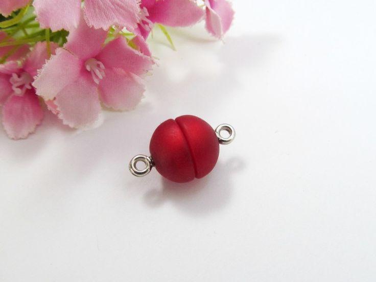 1 Polaris Magnetverschluss 12mm, Fb rubin von Schmuckes von der Perlenbraut auf DaWanda.com