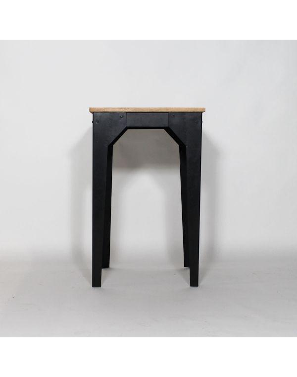 Table mange debout bois et métal industrielle - Made in Meubles