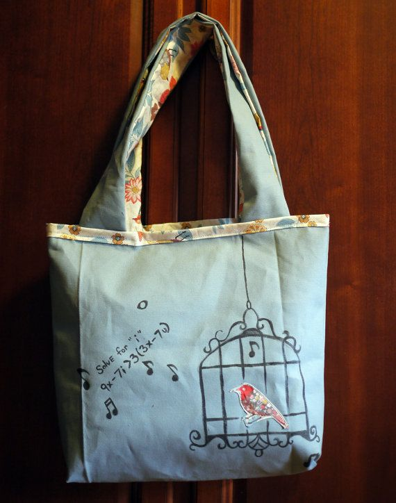 Math Bird love song Tote by 8bitHealey on Etsy