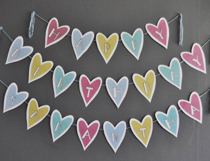 DIY | Loveheart Homemade Banner – Scrap Booking