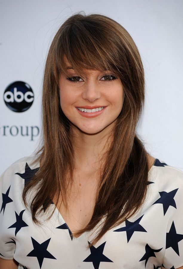 shailene+woodley+scene+bangs | full side-swept bang is romantic and soft for a square face.