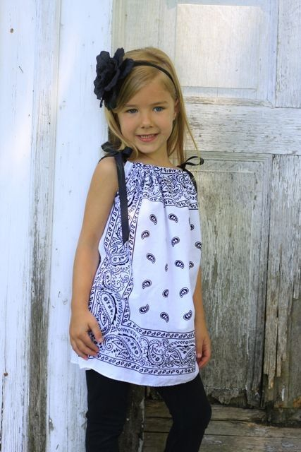 Bandana Dress/Tunic Pink by EvienLizzie on Etsy