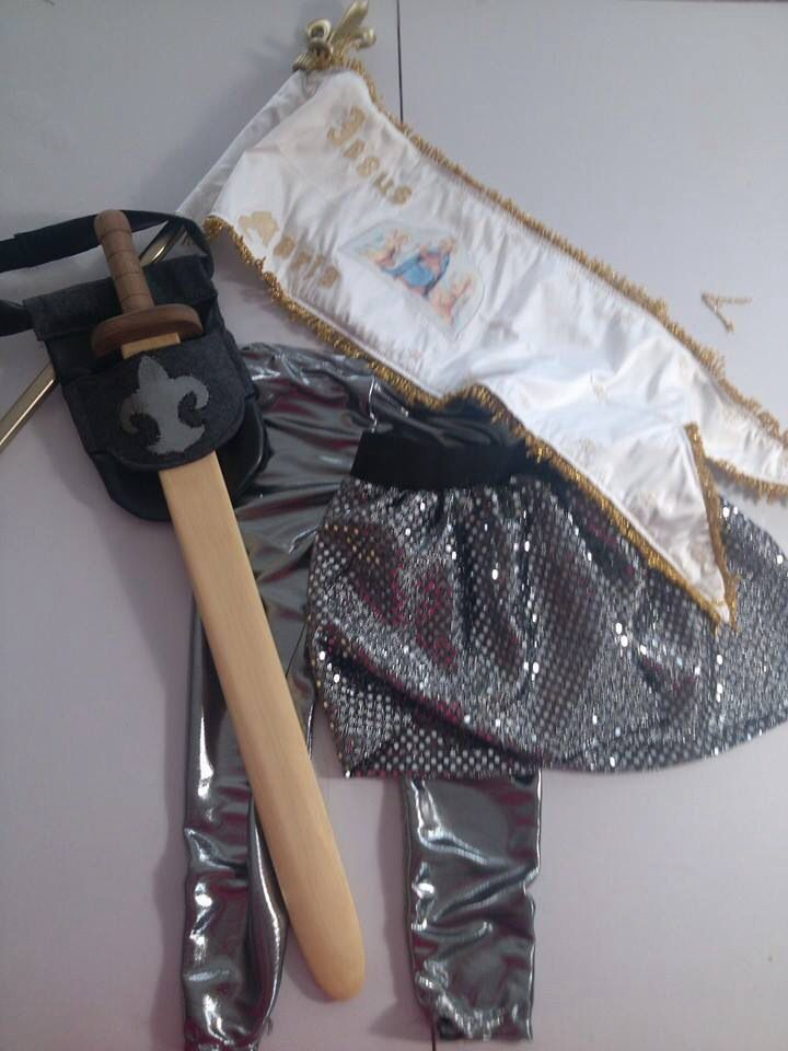 Joan of Arc costume for granddaughter's 5th birthday.  Hubby made the sword.