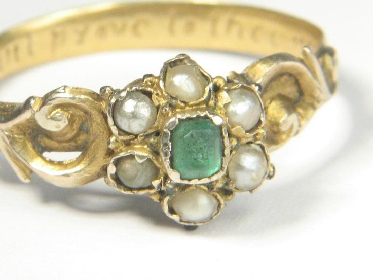 details about antique posy poesy ring constant