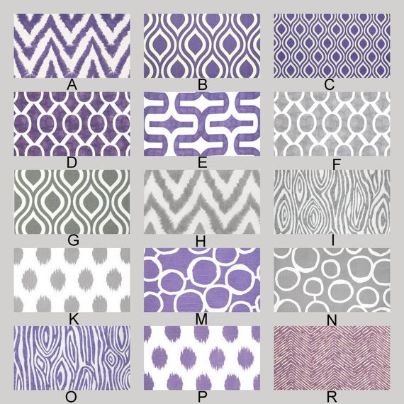 Harriet Bee Rollins 3 Piece Crib Bedding Set: Purple And Gray Custom Crib Baby Bedding YOU DESIGN