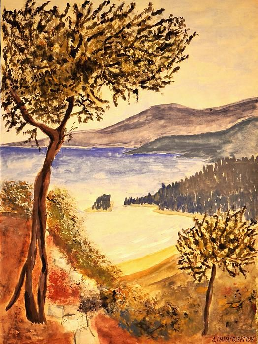 Greel Landscape Olivetrees