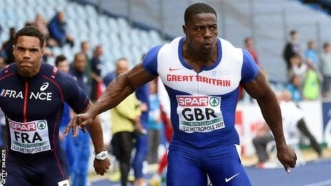European Team Championships  Venue: Lille Date: 23-25 June Coverage: Live on the BBC Red Button on Sunday (11:55-16:30 BST)  Harry Aikines-Aryeetey won twice as Great Britain sit in third place after day two at the European Team Championships in Lille France.  Jack Greene Dwayne Cowan Aikines-Aryeetey Eilidh Doyle and Dan Bramble all won their individual events to take maximum points for Great Britain. Aikines-Aryeetey led a British quartet to victory in the men's 4x100m final in a…