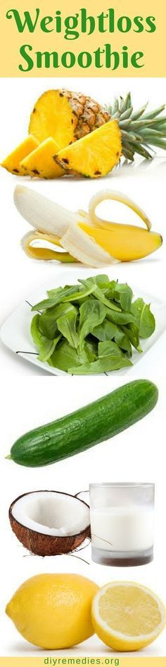 Pineapple Cucumber Smoothie for Weight Loss
