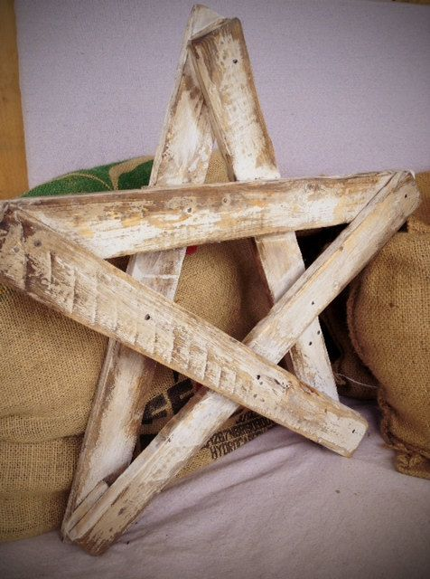 Rustic Star from my old fence pickets
