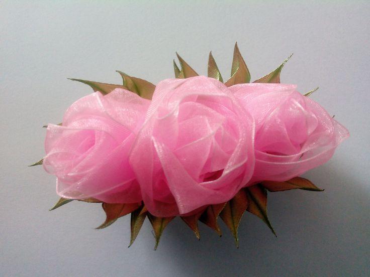 Rose organza Роза из органзы