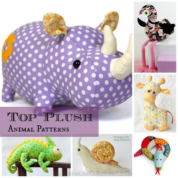 Top 9 toy animal sewing patterns - via FineCraftGuild.com