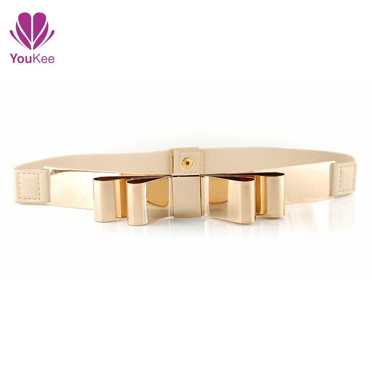 logam emas peregangan sabuk ikat pinggang dasi kupu-kupu dan ikat ...