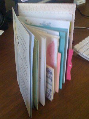 What to do with all those wedding cards? Make a keepsake book! (Offbeat Bride)
