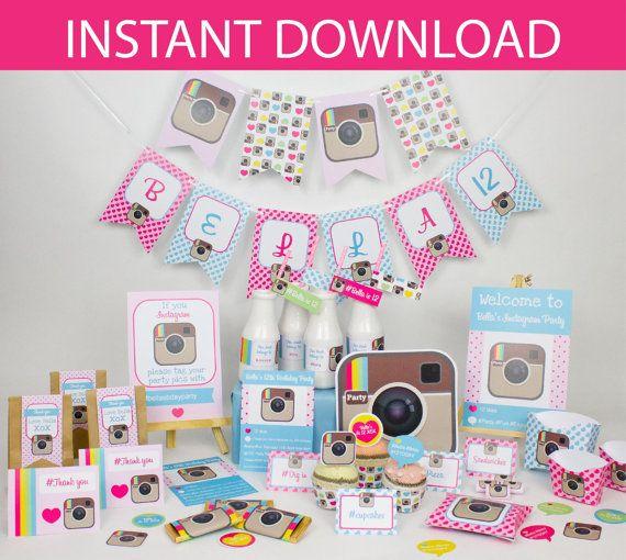 DESCARGAR partido de Instagram DIY Kit imprimible - instantánea