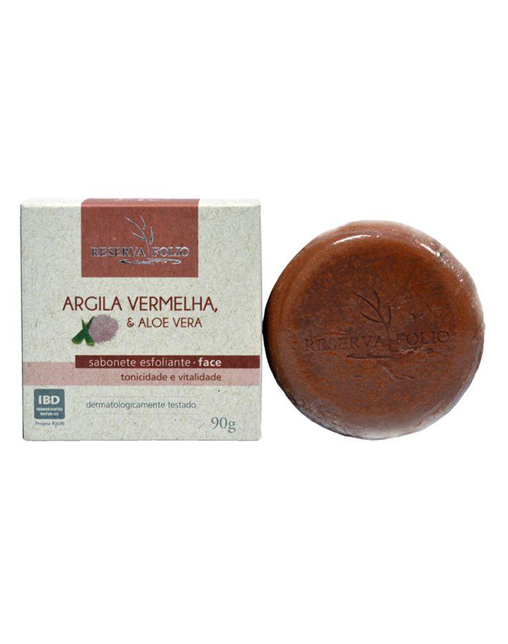 O SABONTE ESFOLIANTE DE ARGILA VERMELHA  e ALOE VERA limpa a pele profundamente, estimulando a respiração celular. Devolve a tonicidade e vitalidade natural da pele. Pode ser usado diariamente. Indicado para pele normal, mista ou desidratada.
