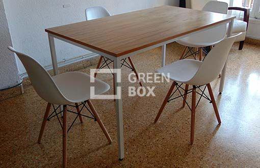 Mesa comedor, estilo industrial.