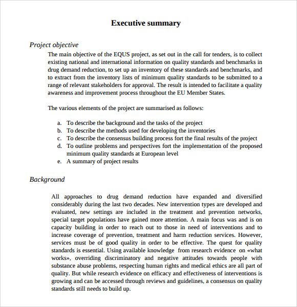 7 Executive Summary Examples Free Premium Templates  Executive Summary Proposal Template