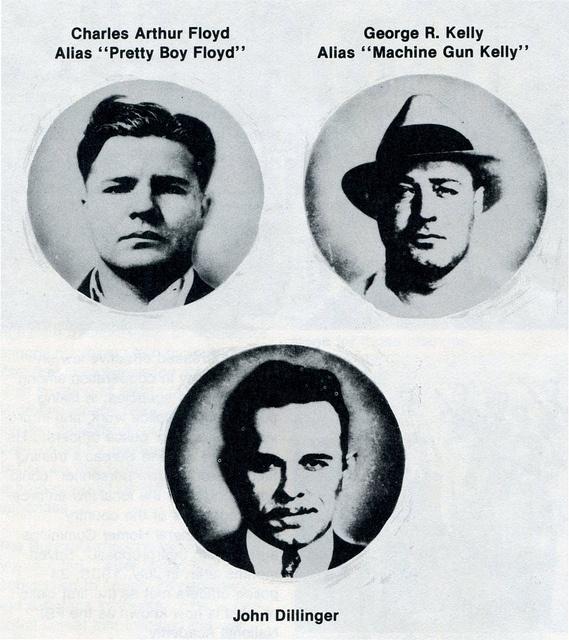 Gangster Era collage of Pretty Boy Floyd, Machine Gun Kelly, and John Dillinger_img466 by Wampa-One, via Flickr