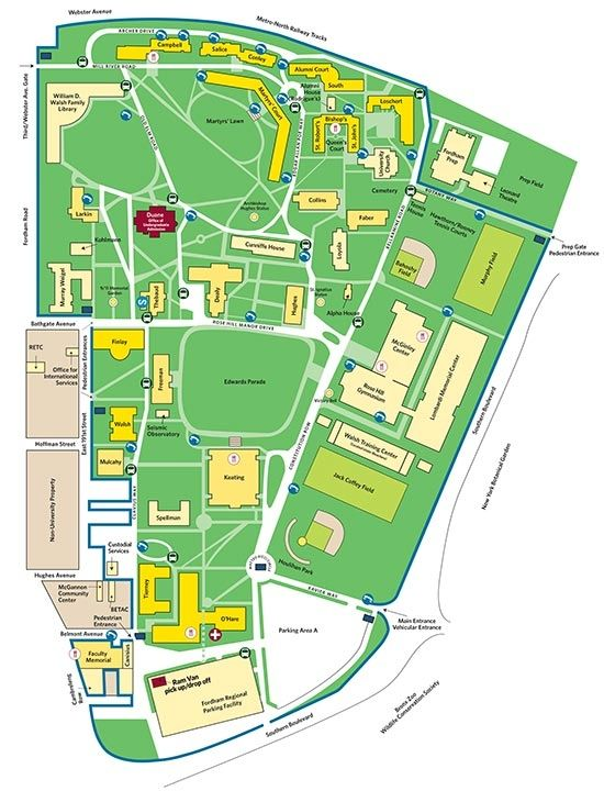Fordham Campus Map pict fordham university rose hill campus map my
