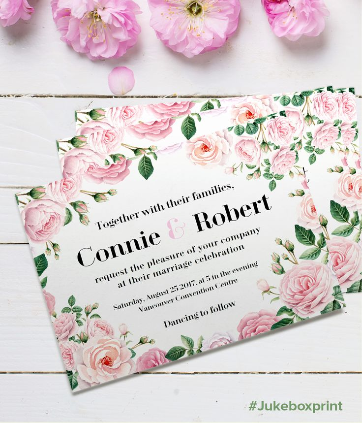 Design Your Wedding Invites With This FREE Illustrated Floral Template From Jukeboxprint Click Here