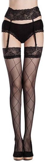 Womail Newly Design Sexy Fashion Appeal Silk Stockings Womens Net Lace Garter Belt Stocking May25 Drop Shipping