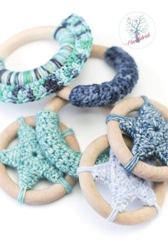 Teethingring baby crochet www.dehaakfabriek.nl