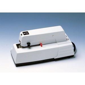 Grapadora eléctrica RAPID 90 para grapado intensivo, se acciona con una sola mano. Sistema regulable de la profundidad de entrada del papel. Grapa hasta 30 hojas. Capacidad de grapas: 150