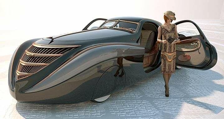 Das exotische 1939 Duesenberg Coupé Simone Midnight Ghost. Es wurde von amerikanischen gebaut …   – Cool cars and vehicles