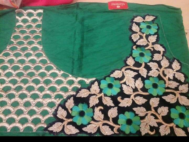 Flower On Blouse.. Get it done at http://mytailor.in/