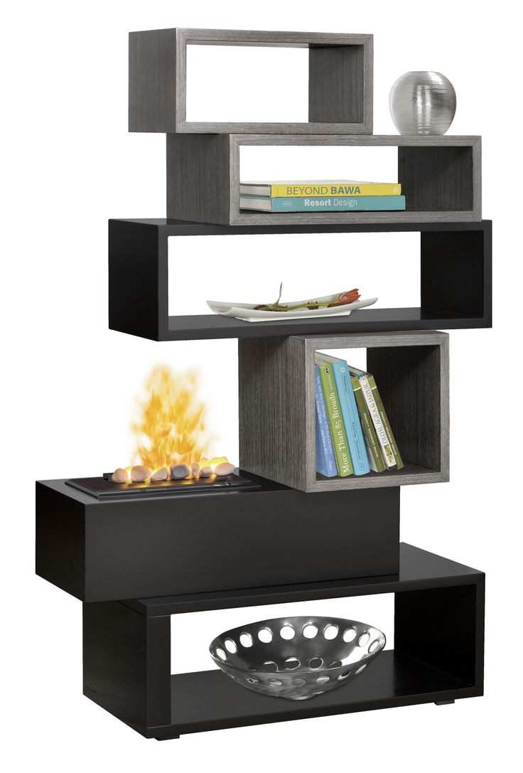 Muskoka alpine 62 in wide electric fireplace tv stand burnished -  Dimplex Optimyst Fireplace Roomdivider Bookshelves Many Possible Applications For This Piece