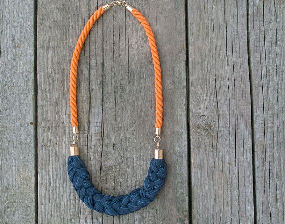 ROPE necklace braided necklace statement ROPE JEWELRY by Zojanka