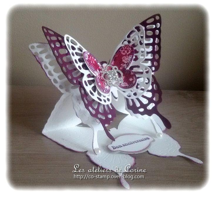 Samedi dernier, lors de l'atelier à mon domicile, nous avons réalisé la carte chevalet papillon précédemment présentée. Cette fois-ci, nous avons utilisé le papier cuvée de cassis :Merci à toutes les participantes ! Si vous aussi vous souhaitez réaliser...