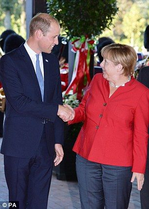 8/23/16*William met the German chancellor Angela Merkel                                                                                                                                                     More