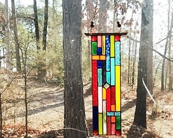 Magnificent stained glass panel glass art gift by hankbarnes1234