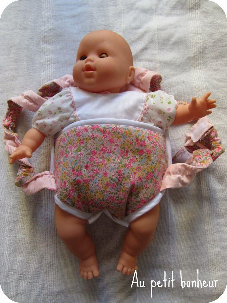 Au petit bonheur: Tuto porte bébé de poupée