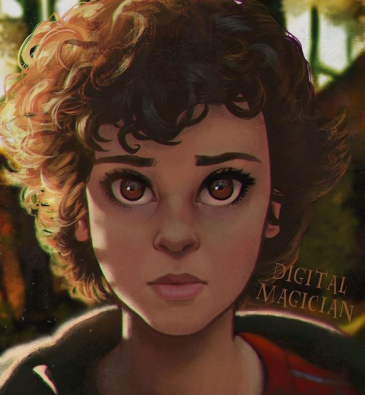 Stranger Things 2 jane/eleven /// oh my wow this is the prettiest art!! i love it!!