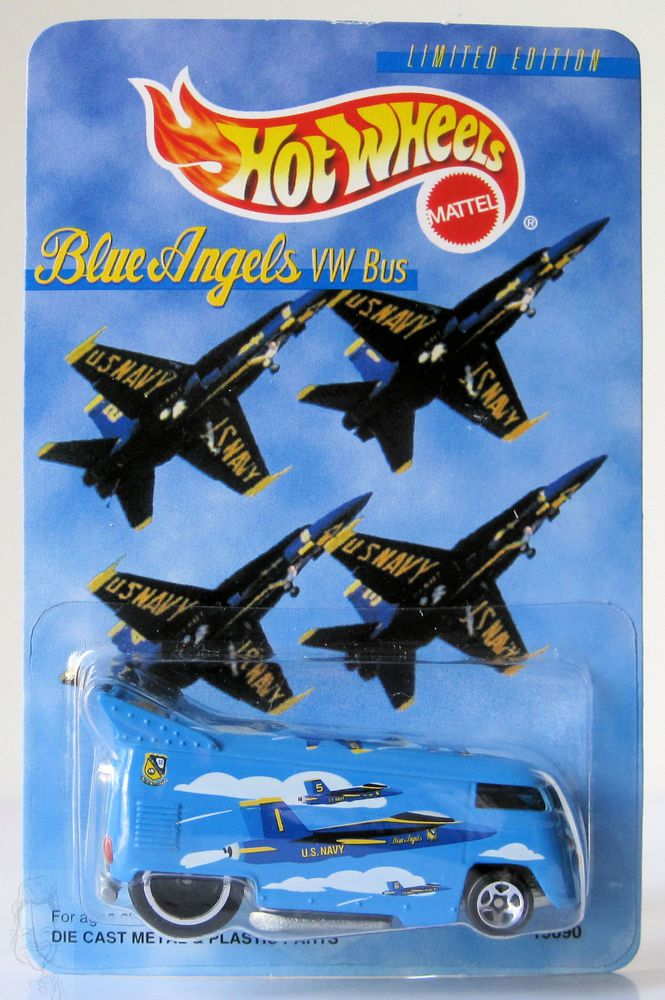 1998 Hot Wheels Limited Edition Blue Angels VW Drag Bus
