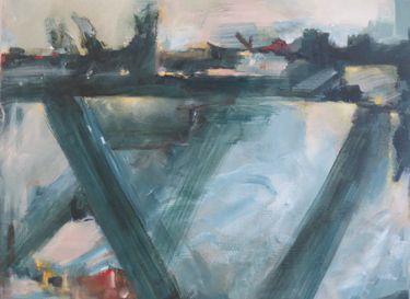 "Saatchi Art Artist Adrienne Silva; Painting, ""building bridges"" #art"