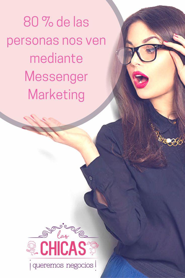 ¿Sabías qué? Solo el 20% de personas, nos ven a través de E-mail Marketing; por eso la publicidad mediante Messenger es más efectiva. #LasChicasQueremosNegocios #messengerbots #negociosenlínea #mujeresemprendedoras #mujeresemprendiendo #botsparafacebook
