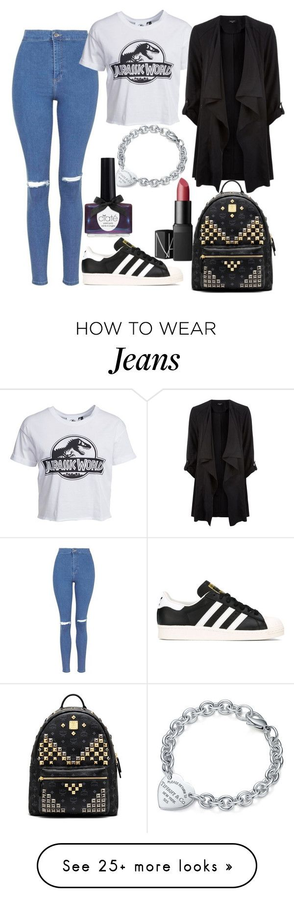 """""""Untitled#12579"""" by mihai-theodora on Polyvore featuring Topshop, New Look, NARS Cosmetics, adidas, Ciaté and Tiffany & Co."""