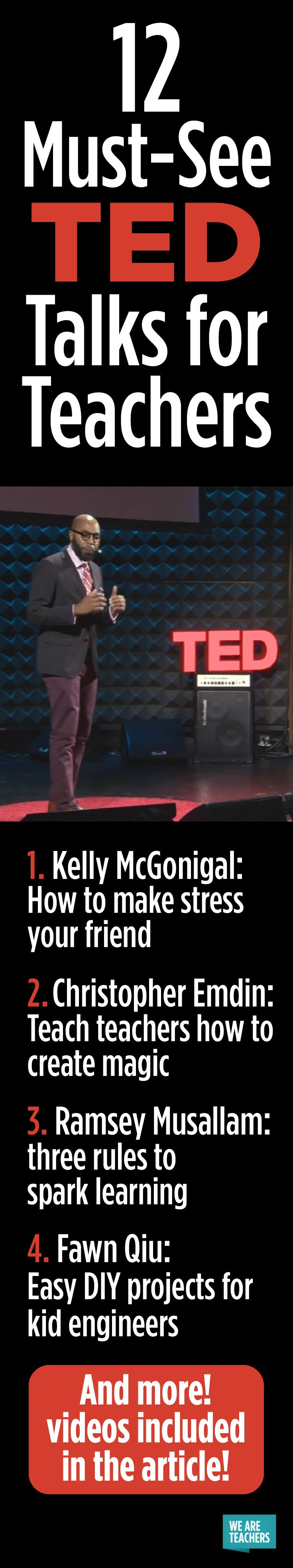 12 Must-See TED Talks for Teachers - WeAreTeachers