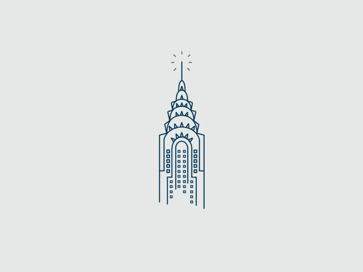 Chrysler Building by Federico Vaccarezza (via Dribbble)