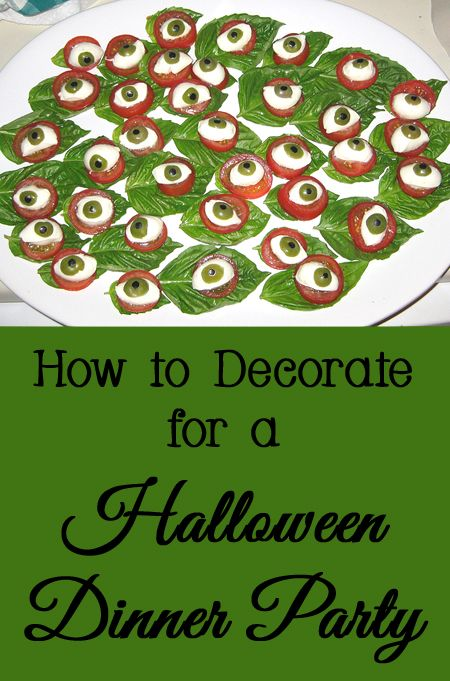 Tips and Tricks for How to Decorate for a Halloween Dinner Party