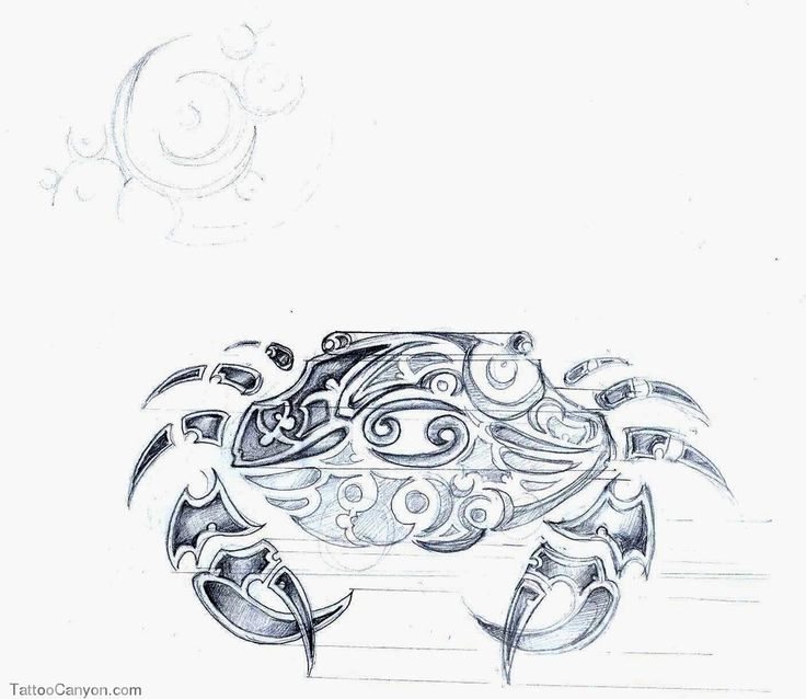 Cancer Crab Tribal Tattoo