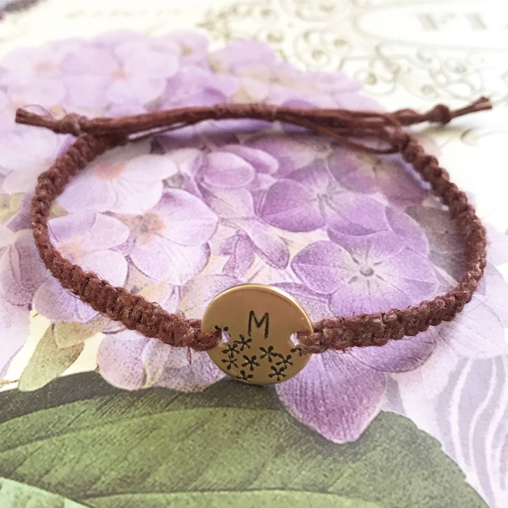 Customized initial bracelet