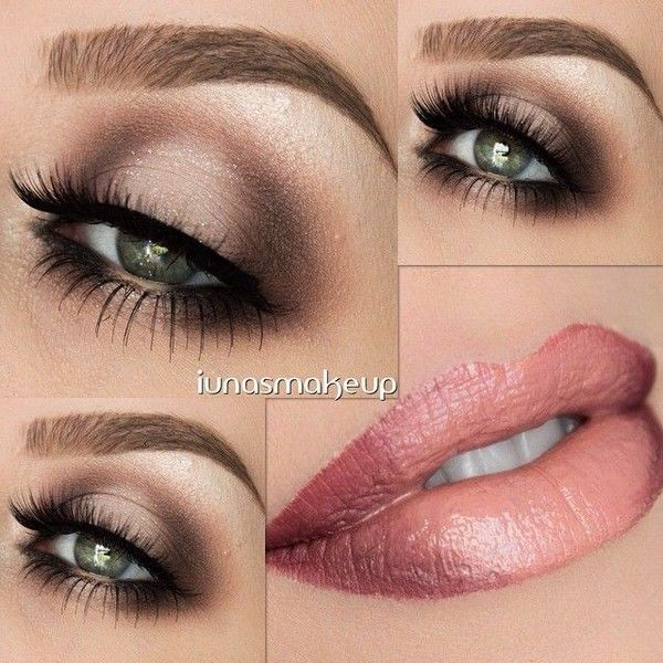 Makeup Look Tutorial Smokey Eye with Grey, Blue and Black ❤ liked on Polyvore featuring beauty products, makeup, eye makeup, gray eye makeup, black kit, grey eye makeup, palette makeup y makeup kit