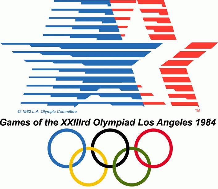1984 Summer Olympics Basketball | 1984 Los Angeles Olympics Primary Logo - Summer Olympics (Summer ...
