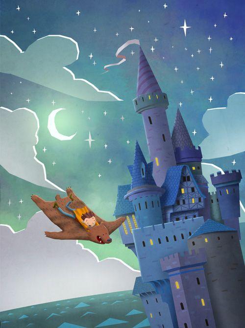 Hilltop Castle: Illustration by Ken Wong